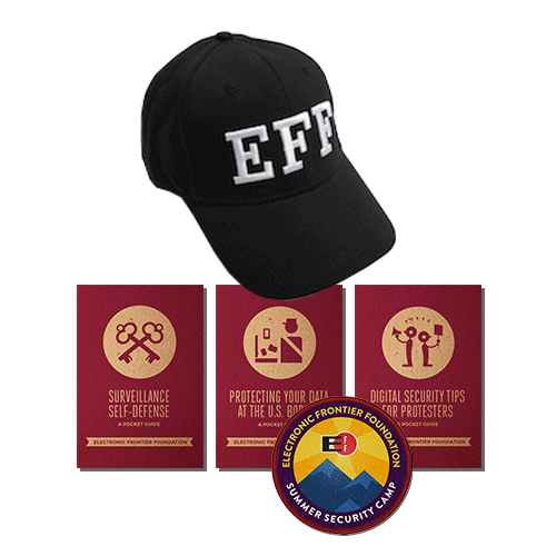 EFF 'FBI' Hat, Security Guides, & Limited-Edition Patch