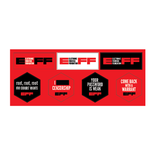EFF Multisticker Sheet - Red