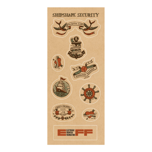 Shipshape Sticker Sheet