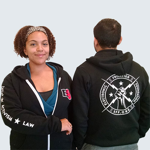 Electric Fist Hooded Sweatshirt | Electronic Frontier Foundation