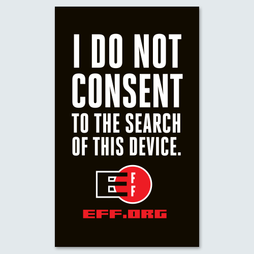 i do not consent to the search of this device sticker 3 pack