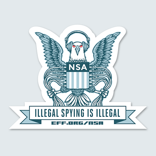 Illegal Spying Eagle Sticker | Electronic Frontier Foundation