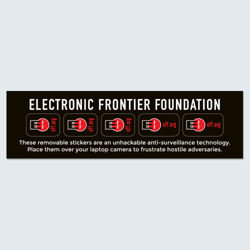laptop camera cover set electronic frontier foundation