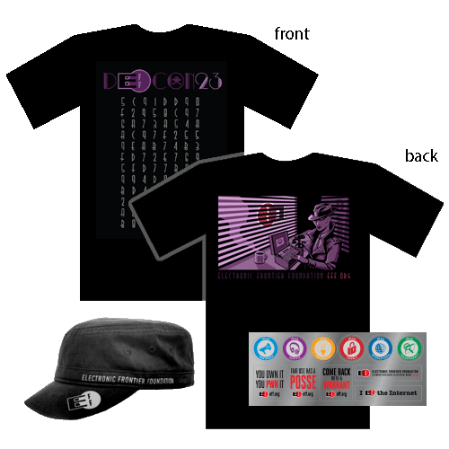 Donor Combo: Crypto Noir Shirt, Hat, and Sticker Sheet